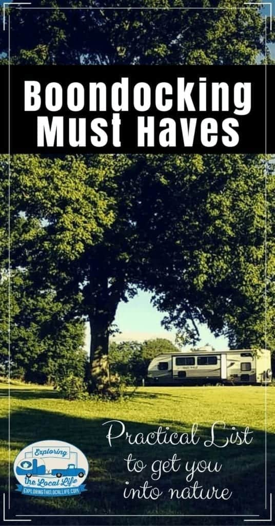 A travel trailer is parked under a large tree.