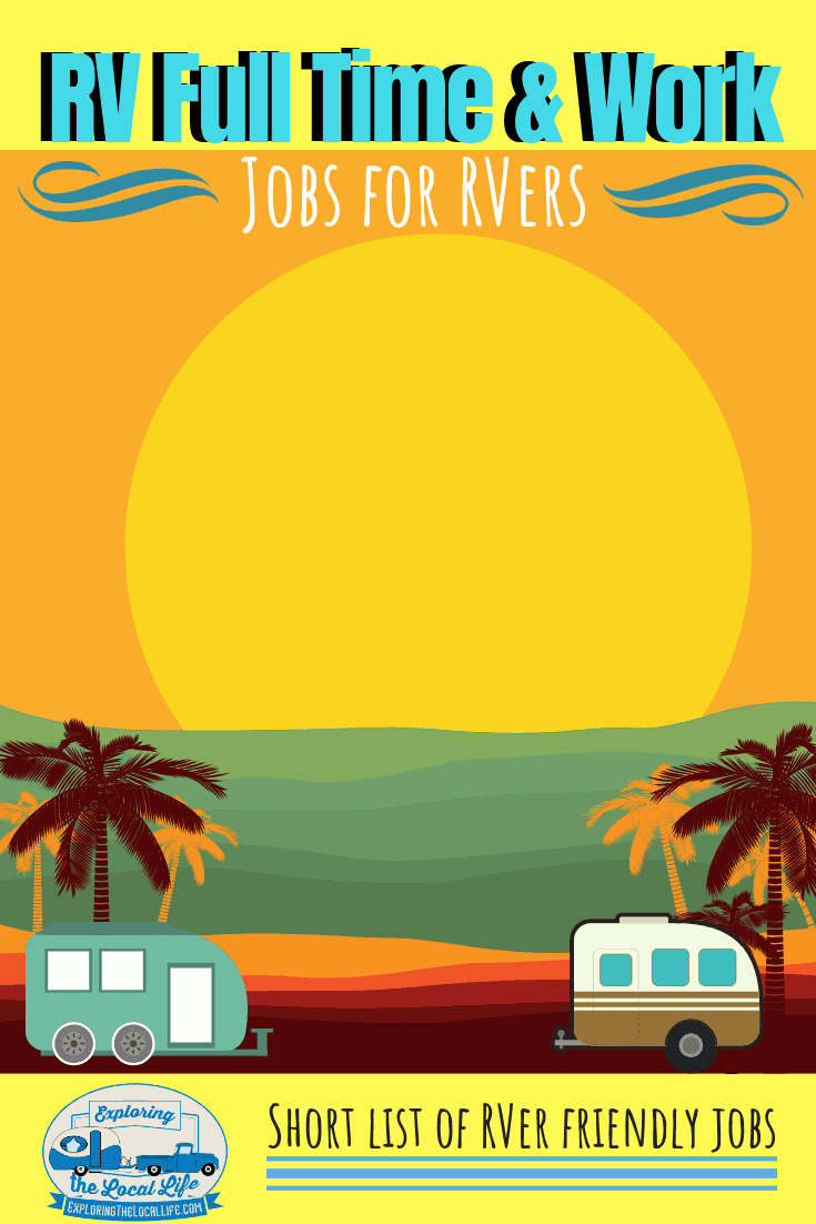 Drawing of 2 travel trailers on the beach at sunset.