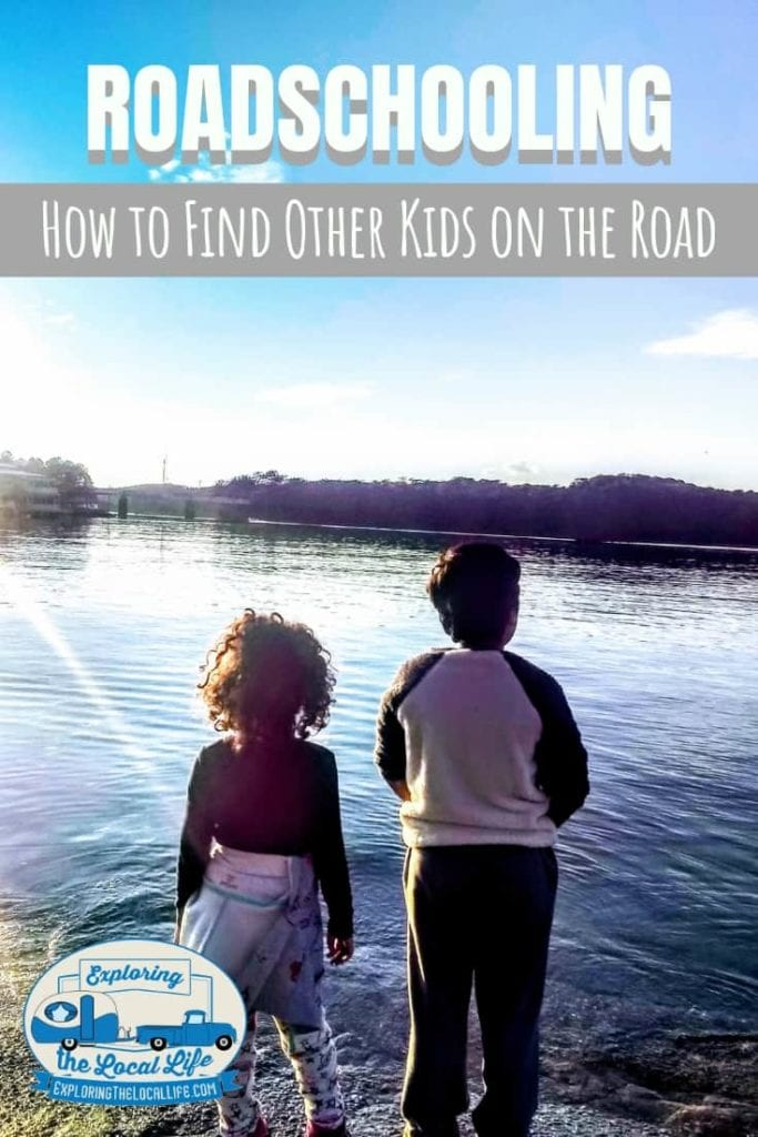 Kids standing on the shores of Lake Allatoona in Georgia.