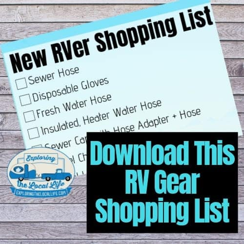 Image collage for a new RVer shopping list