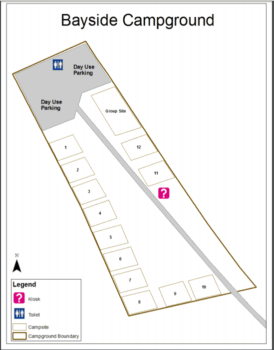 Map of Bayside Campground