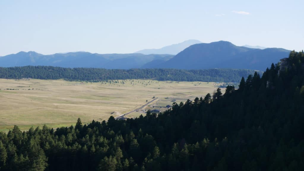 View from Spruce Mountain Butte Overlook.