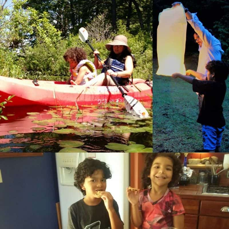 Photo collage of parents and kids enjoying life